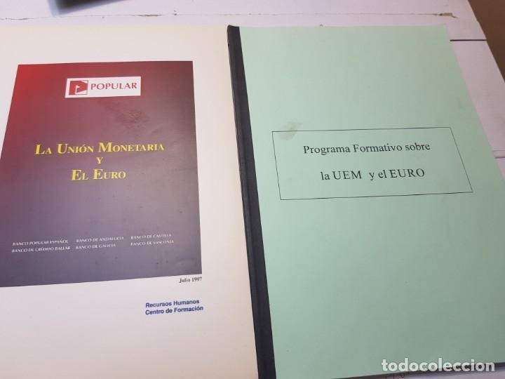 PROGRAMAS SOBRE LA IMPLANTACIÓN DEL EURO EN ESPAÑA PARA BANCOS (Libros de Segunda Mano - Ciencias, Manuales y Oficios - Derecho, Economía y Comercio)