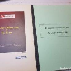 Libros de segunda mano: PROGRAMAS SOBRE LA IMPLANTACIÓN DEL EURO EN ESPAÑA PARA BANCOS. Lote 173856728
