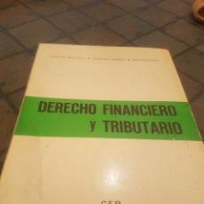 Libros de segunda mano: DERECHO FINANCIERO Y TRIBUTARIO CEP. Lote 173910783