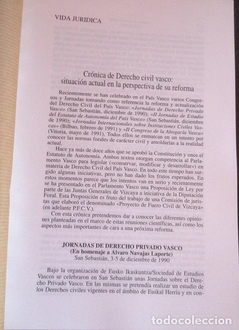 Cronica De Derecho Civil Vasco Situacion Actua Comprar Libros De Derecho Economía Y Comercio En Todocoleccion 173691890