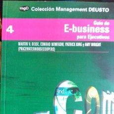 Libros de segunda mano: GUIA DE E-BUSINESS PARA EJECUTIVOS. - PRINCEWATERHOUSECOOPERS.. Lote 173706533