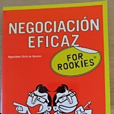 Libros de segunda mano: NEGOCIACION EFICAZ FOR ROOKIES.. Lote 173773308