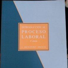 Libros de segunda mano: INTRODUCCION AL PROCESO LABORAL. - MONTERO AROCA, J.. Lote 173710802
