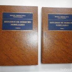 Libros de segunda mano: MANUEL TABOADA ROCA ESTUDIOS DE DERECHO NOBILIARIO(2 TOMOS) Y95635. Lote 174072523