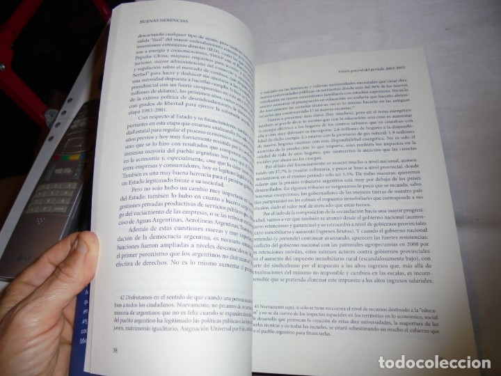 Libros de segunda mano: BUENAS HERENCIAS.EL LEGADO ECONOMICO DEL KIRCHNERISMO.ALEJANDRO BARRIOS.PROLOGO DE ALEJANDRO VANOLI. - Foto 5 - 174339415