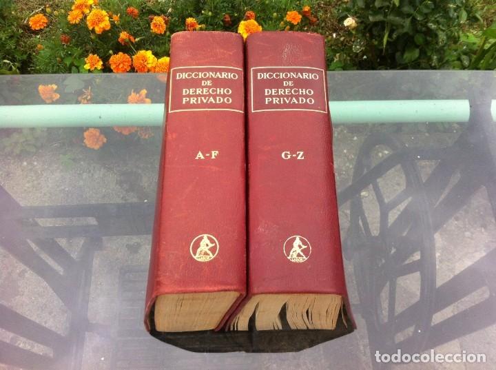 Libros de segunda mano: DICCIONARIO DE DERECHO PRIVADO (2 TOMOS) IGNACIO DE CASSO - FRANCISCO CERVERA. ED. LABOR, 1950. - Foto 2 - 174558408