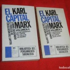 Libros de segunda mano: KARL MARX. EL CAPITAL LIBRO SEGUNDO EL PROCESO DE CIRCULACION DEL CAPITAL - SIGLO XXI 1976. Lote 174953710