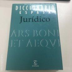 Libros de segunda mano: DICCIONARIO ESPASA JURÍDICO. Lote 175295693