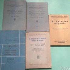 Libros de segunda mano: LOTE 5 LIBROS SOBRE EL CATASTRO EN ESPAÑA.. Lote 175589097