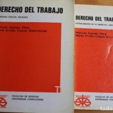 Libros de segunda mano: DERECHO DEL TRABAJO MANUEL ALONSO OLEA MARIA EMILIA CASAS BAMONDE. Lote 176071277