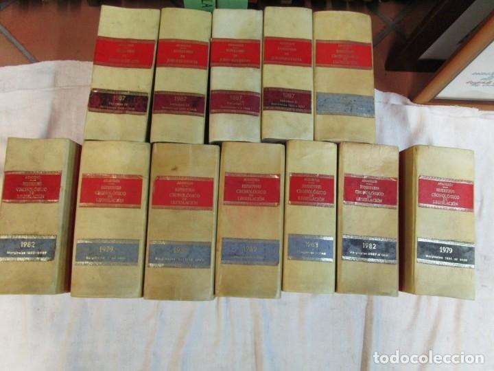 Libros de segunda mano: DECORACION - ARANZADI 12 TOMOS REPERTORIO DE JURISPRUDENCIA, 110CM FRENTE, LOMERAS PIEL + INFO - Foto 2 - 190429146