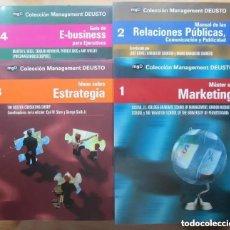Libros de segunda mano: COLECCION MANAGEMENT DE DEUSTO (COLECCION COMPLETA - 21 LIBROS) - MGD (ECONOMIA, MARKETING...). Lote 176308043