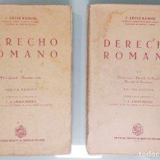 Libros de segunda mano: DERECHO ROMANO / J. ARIAS RAMOS; J. A. ARIAS BONET. MADRID: REVISTA DE DERECHO PRIVADO, 1966. 2 VOL.. Lote 176586959