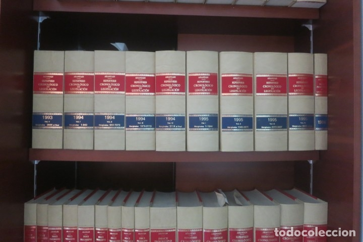 Libros de segunda mano: Repertorio Cronológico de legislación 200 tomos 1950 a 1991 Aranzadi - Foto 2 - 176912039