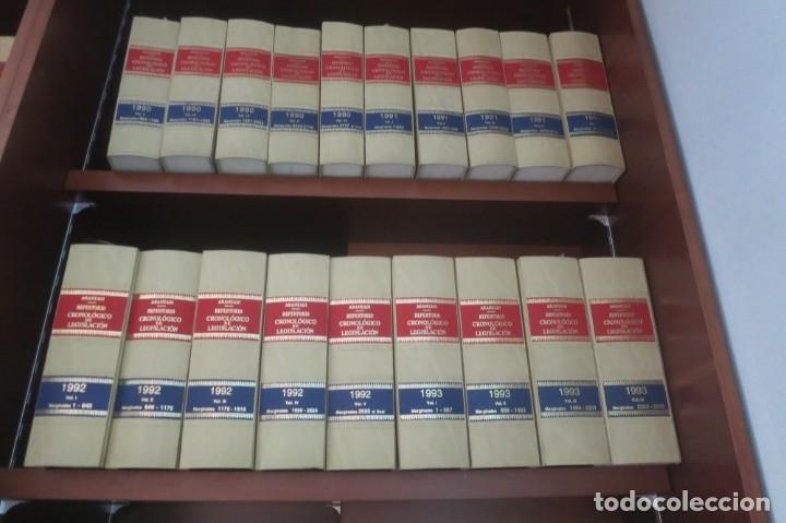 Libros de segunda mano: Repertorio Cronológico de legislación 200 tomos 1950 a 1991 Aranzadi - Foto 4 - 176912039