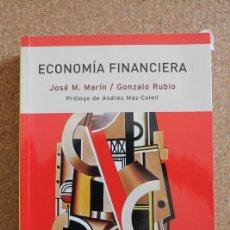 Libros de segunda mano: ECONOMÍA FINANCIERA. PRÓLOGO DE ANDREU MAS-COLELL. MARÍN (JOSÉ M.), RUBIO (GONZALO). Lote 177406907