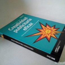 Libros de segunda mano: ESIC. CREATIVIDAD PUBLICITARIA EFICAZ.. Lote 177522300