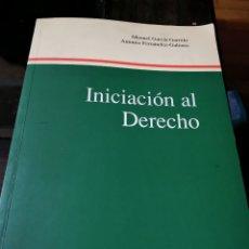 Libros de segunda mano: INICIACIÓN AL DERECHO. Lote 177689173