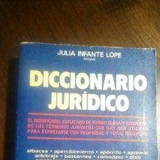 Libros de segunda mano: DICCIONARIO JURIDICO INFANTE. Lote 178068417