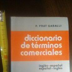 Libros de segunda mano: DICCIONARIO DE TERMINOS COMERCIALES PRAT. Lote 178068713