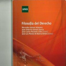 Libros de segunda mano: FILOSOFÍA DEL DERECHO. MERCEDES GÓMEZ ADANERO Y OTROS. Lote 178227321