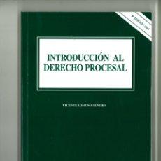 Libros de segunda mano: INTRODUCCIÓN AL DERECHO PROCESAL. VICENTE GIMENO SENDRA. Lote 178228496