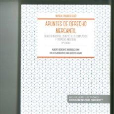 Libros de segunda mano: APUNTES DE DERECHO MERCANTIL. ALBERTO BERCOVITZ RODRÍGUEZ-CANO. Lote 178228927