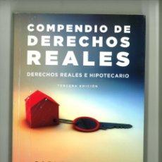 Libros de segunda mano: COMPENDIO DE DERECHOS REALES. DERECHOS REALES E HIPOTECARIO. CARLOS LASARTE. Lote 178230606