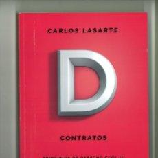 Libros de segunda mano: CONTRATOS. PRINCIPIOS DE DERECHO CIVIL TOMO TERCERO. CARLOS LASARTE. Lote 178230886