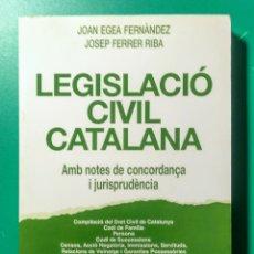 Libros de segunda mano: LEGISLACIÓ CIVIL CATALANA. EUB. 1999. 9° EDICIÓ.. Lote 178389175