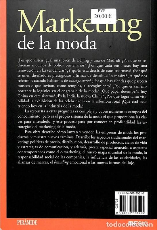 Libros de segunda mano: Marketing De La Moda - Ana Isabel Vázquez Casco - Ediciones Pirámide - Marketing Sectorial - Foto 4 - 178691947