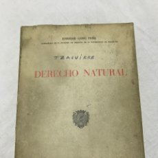 Libros de segunda mano: DERECHO NATURAL POR ENRIQUE LUÑO PEÑA BARCELONA 1968 QUINTA EDICIÓN. Lote 178924538