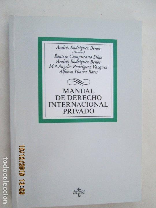 MANUAL DE DERECHO INTERNACIONAL PRIVADO - TECNOS - PRIMERA REIMPRESIÓN 2015. (Libros de Segunda Mano - Ciencias, Manuales y Oficios - Derecho, Economía y Comercio)