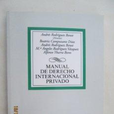 Libros de segunda mano: MANUAL DE DERECHO INTERNACIONAL PRIVADO - TECNOS - PRIMERA REIMPRESIÓN 2015. . Lote 180038397