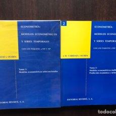 Libros de segunda mano: ECONOMETRÍA: MODELOS ECONOMÉTRICOS Y SERIES TEMPORALES. JOSÉ MARÍA CARIDAD Y OCERÍN. BUEN ESTADO.. Lote 180131095
