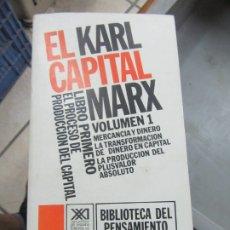 Libros de segunda mano: EL CAPITAL, (VOLUMEN 1), KARL MARX. L.14508-538. Lote 180171147