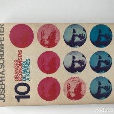 Libros de segunda mano: 10 GRANDES ECONOMISTAS DE MARX A KEYNES JOSEPH A. SCHUMPETER EDIT ALIANZA AÑO 1967. Lote 180263856