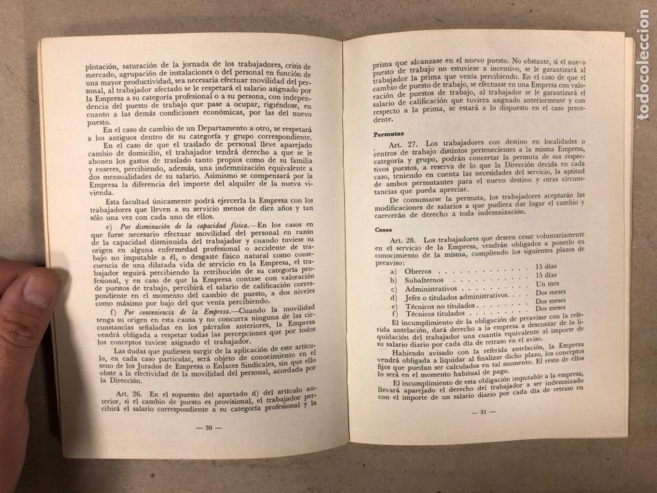 Libros de segunda mano: ORDENANZA DE TRABAJO ORA LA INDUSTRIA SIDEROMETALURGICA. CENTRO INDUSTRIAL DE VIZCAYA 1974 - Foto 3 - 180279985
