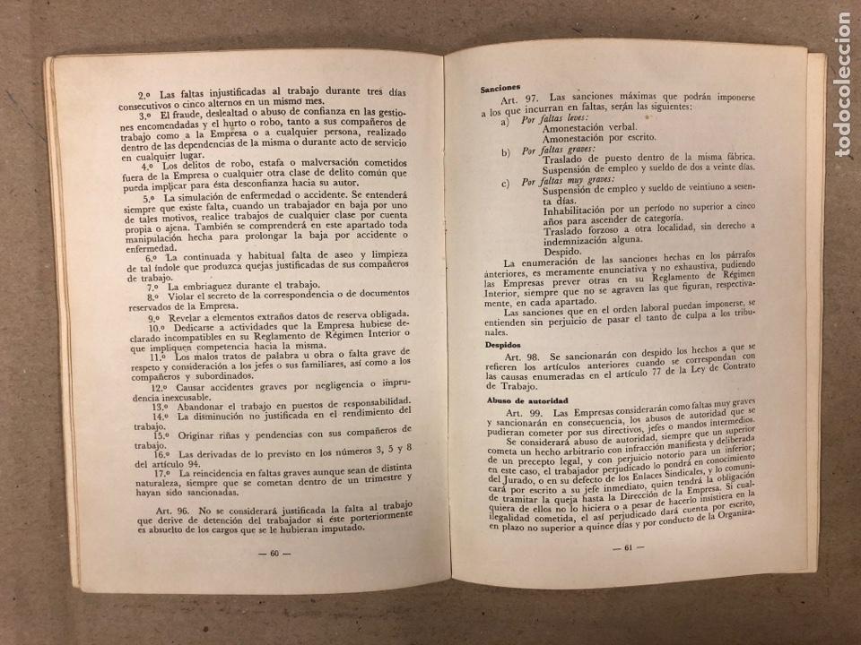 Libros de segunda mano: ORDENANZA DE TRABAJO ORA LA INDUSTRIA SIDEROMETALURGICA. CENTRO INDUSTRIAL DE VIZCAYA 1974 - Foto 4 - 180279985