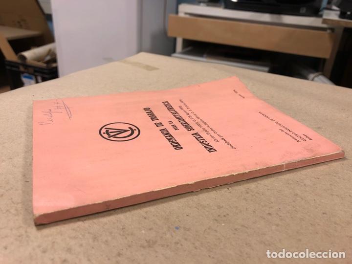Libros de segunda mano: ORDENANZA DE TRABAJO ORA LA INDUSTRIA SIDEROMETALURGICA. CENTRO INDUSTRIAL DE VIZCAYA 1974 - Foto 6 - 180279985