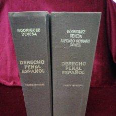 Libros de segunda mano: DERECHO PENAL. PARTE GENERAL Y PARTE ESPECIAL. DYKINSON. AÑO 2990/92. Lote 180315016