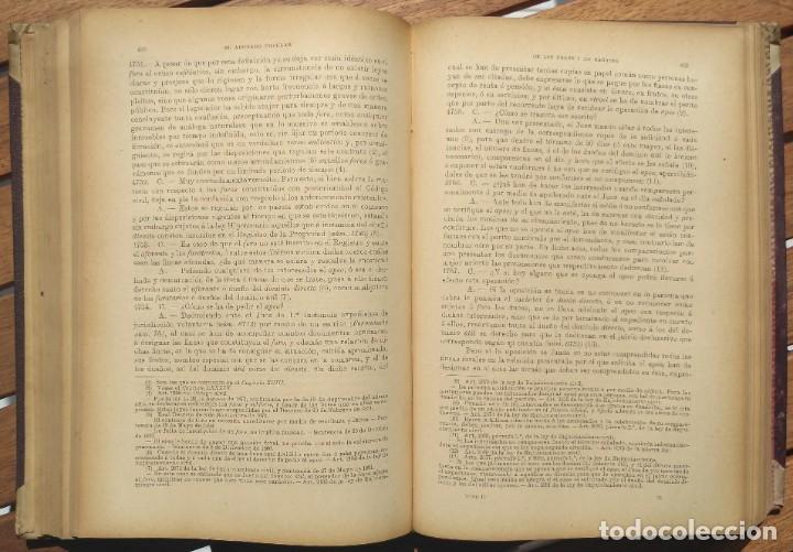 Libros de segunda mano: EL ABOGADO POPULAR. D. PEDRO HUGUET Y CAMPAÑA. 3 TOMOS 1898 - Foto 6 - 180922830