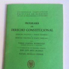 Libros de segunda mano: DERECHO CONSTITUCIONAL Y POLITICO I Y II. Lote 181157025