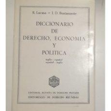 Libros de segunda mano: DICCIONARIO DE DERECHO, ECONOMÍA Y POLÍTICA. Lote 181539932