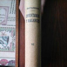 Libros de segunda mano: INVENTARIOS Y BALANCES,. ESTUDIO JURÍDICO Y CONTABLE.. Lote 181910897