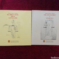 Libros de segunda mano: EL DRET CIVIL DELS CATALANS / MIL ANYS DE DRET A CATALUNYA.. Lote 182020135