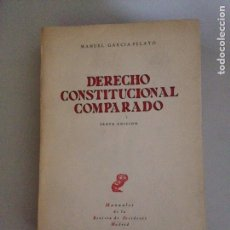 Libros de segunda mano: DERECHO CONSTITUCIONAL COMPARADO. Lote 182129577