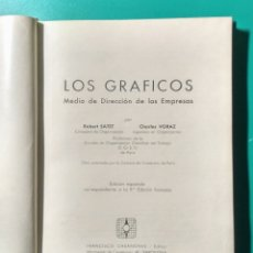 Libros de segunda mano: LOS GRÁFICOS. ROBERT SATET. 1960.. Lote 182420986