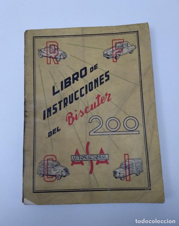 LIBRO DE INSTRUCCIONES DEL BISCUTER MOD. 200, DE 1958 (Libros de Segunda Mano - Ciencias, Manuales y Oficios - Derecho, Economía y Comercio)