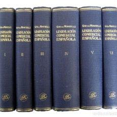 Libros de segunda mano: 1930 - DERECHO - COMERCIO -TRATADO DE LA LEGISLACIÓN COMERCIAL ESPAÑOLA - GAY DE MONTELLÁ - COMPLETO. Lote 183039748
